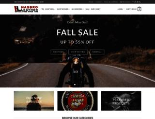 hasbroleather.com screenshot