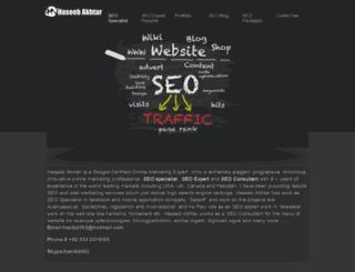 haseebakhter.com screenshot