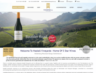 haskellvineyards.com screenshot