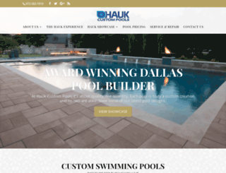 haukcustompools.com screenshot