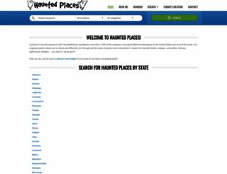 hauntedplaces.org screenshot