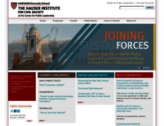 hausercenter.org screenshot