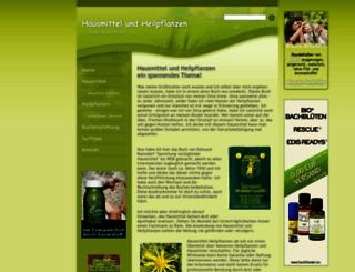 hausmittel-heilpflanzen.de screenshot