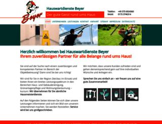 hauswartdienste-beyer.de screenshot