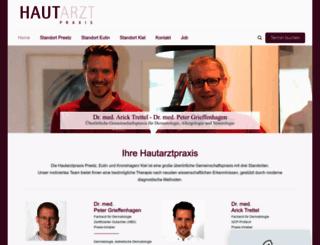 hautarztpraxis-eutin.de screenshot