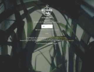 havana-club.co.uk screenshot