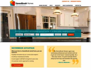 havenbrookhomes.securecafe.com screenshot