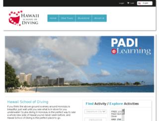 hawaii-school-of-diving.trekksoft.com screenshot