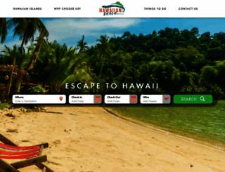 hawaiianbeachrentals.com screenshot