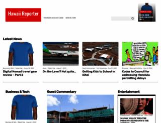 hawaiireporter.com screenshot