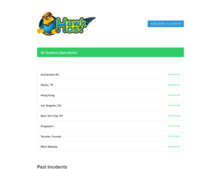hawkhoststatus.com screenshot