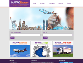 hawklogistic.net screenshot
