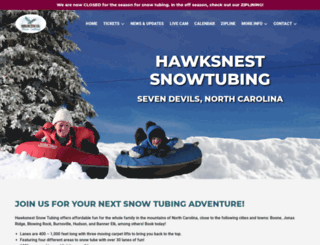 hawksnesttubing.com screenshot