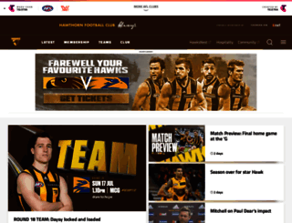 hawthornfc.com.au screenshot