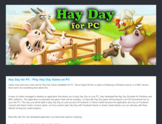 haydayforpc.blogspot.com screenshot