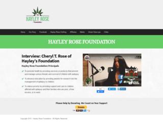 hayleyrosefoundation.org screenshot