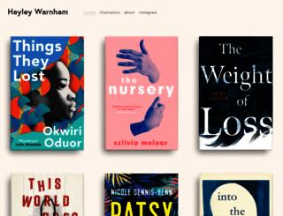 hayleywarnham.com screenshot