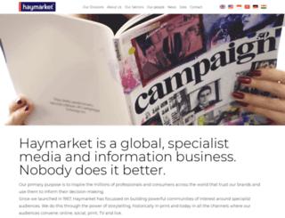 haymarketgroup.com screenshot