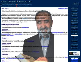hayrettinkaraman.net screenshot