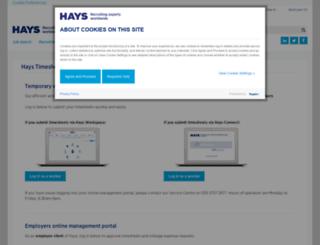 haysconnect.co.uk screenshot
