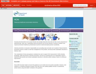 hcai.dh.gov.uk screenshot