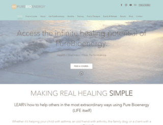 healingbioenergy.com screenshot