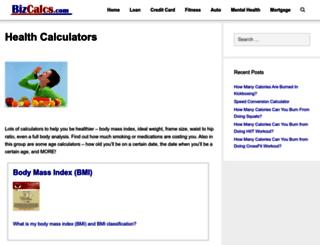 health.bizcalcs.com screenshot