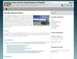 health.state.nm.us screenshot