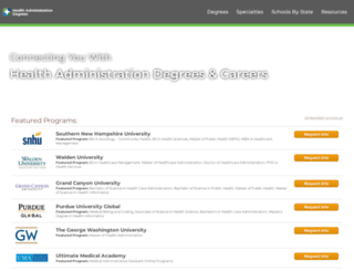 healthadministrationdegrees.com screenshot