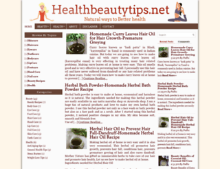 healthbeautytips.net screenshot