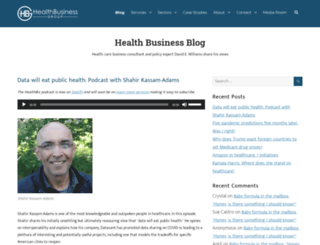 healthbusinessblog.com screenshot