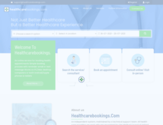 healthcarebookings.com screenshot