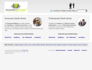 healthcaregateway.co.za screenshot