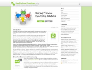 healthcareproblems.org screenshot
