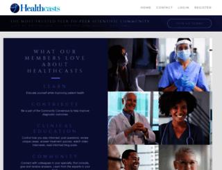 healthcasts.com screenshot