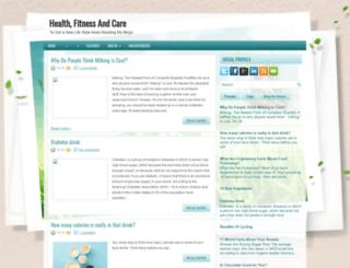 healthfitnessandcare.blogspot.com screenshot