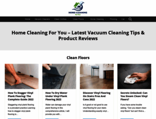 healthier-cleaning-products.com screenshot