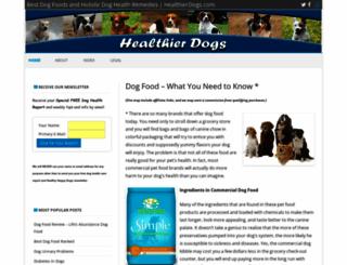 healthierdogs.com screenshot