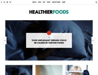 healthierfoods.com screenshot