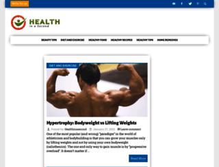 healthinasecond.com screenshot
