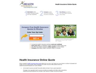 healthinsuranceonlinequote.com screenshot