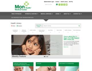 healthlibrary.mongeneral.com screenshot