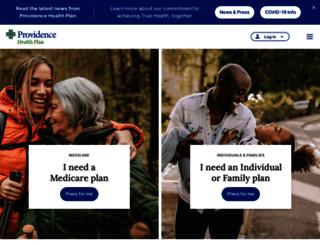 healthplans.providence.org screenshot