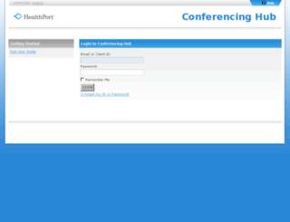healthportinc.conferencinghub.com screenshot