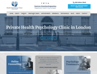 healthpsychologyclinic.co.uk screenshot