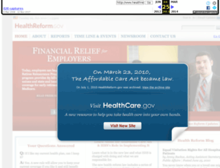 healthreform.gov screenshot