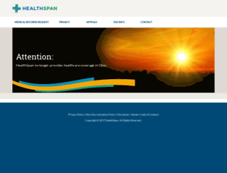 healthspan.org screenshot