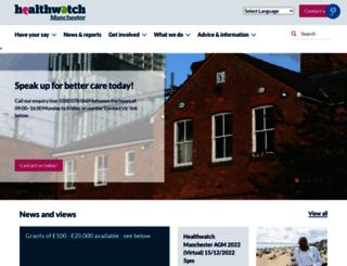 healthwatchmanchester.co.uk screenshot