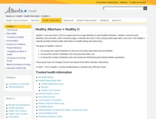 healthyalberta.com screenshot