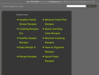 healthygoose.com screenshot